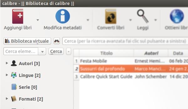 Calibre per ebook