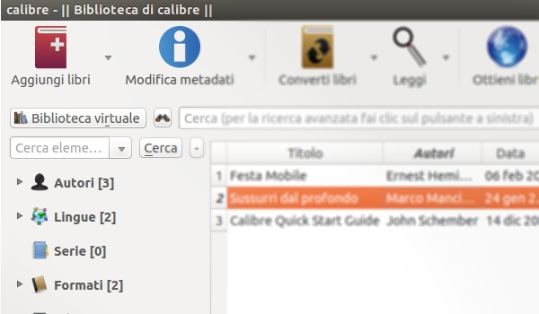 Calibre per ebook
